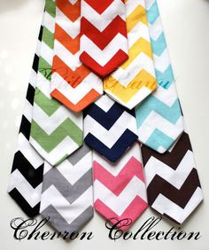 Little Guy Necktie Tie - CHEVRON Collection - (Newborn - 12 months) - Baby Boy Toddler - Wedding - Photo Prop