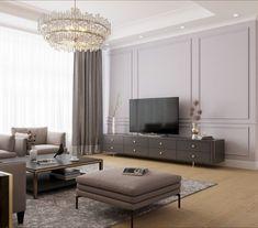 Interior Design Living Room, Living Room Decor, Bedroom Decor, Cozy Bedroom, Casa Milano, Living Tv, Modern Living, Neoclassical Interior, Classic Living Room