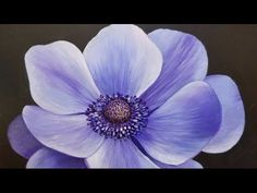 Blue Poppy LIVE Acrylic Painting Tutorial - YouTube