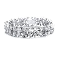 Bedazzling CZ Cubic Zirconia Bridal Bracelet 3012B--Affordable Elegance Bridal