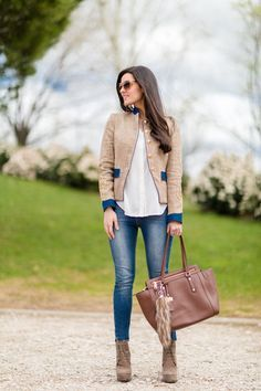 Denim & Military chaqueta blazer militar The Extreme Collection Crimenes de la Moda - Daily Fashion Outfits Casual Work Outfits, Mode Outfits, Work Casual, Fashion Outfits, Womens Fashion, Fresh Outfits, Classy Outfits, Street Mode, Street Style