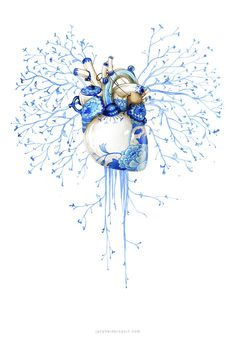 Porcelain Art Print by Jana Heidersdorf Illustration Art And Illustration, People Illustration, Medical Art, Anatomy Art, Human Anatomy, Heart Art, Artwork, Cool Art, Art Drawings