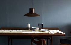 wood meets grey blue. nice