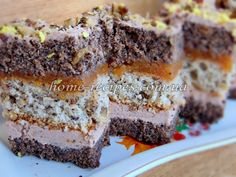 """Пляцок """"Пані Дульська"""" Russian Cakes, Russian Desserts, Home Recipes, Baking Recipes, Homemade Cakes, Confectionery, Coffee Cake, Sugar Cookies, Bakery"""