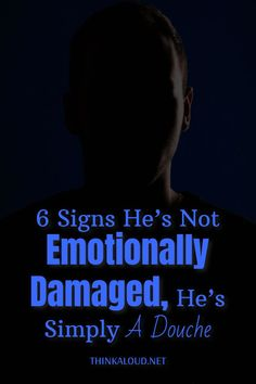 We expect guys to be all macho and tough, and we ignore the fact that there are some emotionally damaged men who are having a hard time in relationships.