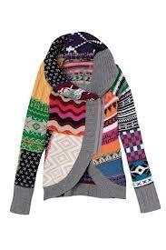 chaquetas lana con patchwork - Buscar con Google