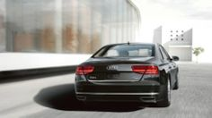 Audi A8 L 4.0T shown in Phantom Black pearl. Find more #Audis at www.carsquare.com #germanauto #european #auto #A8L