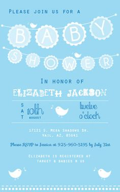 Boy Baby Shower Invitation With Bunting by BeautifullDreams, $8.00