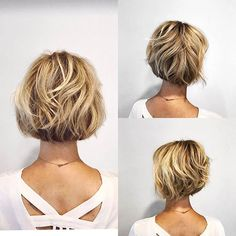 60 Layered Bob Styles: Modern Haircuts with Layers for Any Occasion Short Bob with Wavy Layers Layered Bob Hairstyles, Short Bob Haircuts, Easy Hairstyles, Hairstyles 2018, Boy Haircuts, Haircuts For Over 50, Chin Length Hairstyles, Bobbed Haircuts, Bob Haircut 2018