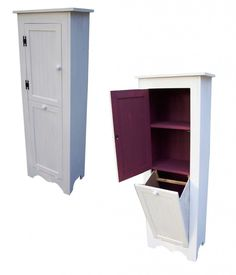 Woodways's Design - Bathroom Cabinet w/ Built-in Laundry Hamper ...