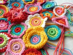 I really have to learn how to crochet, but suspect my flowers would not be as lovely as these.