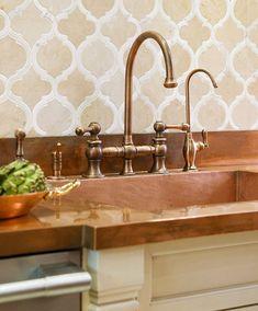 backsplash tile, faucet, sink...love