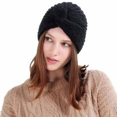 Women Knitting Hat beanie Fashion Autumn Winter Keep Warm Manual Wool  Knitted Earmuffs Hats Girls Caps c01a193ccb75