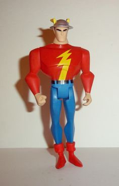 mattel JUSTICE LEAGUE UNLIMITED (dc universe animated) FLASH (jay Garrick) Condition: overall excellent - displayed only/collectable condition figure size: 4 1/2 inches