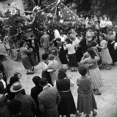 Italians celebrate a May Festival in the village of Bucchianico, near Chieti in Abruzzo. May 1957.