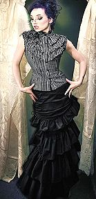 Gothic Victorian Fishtail Bustle Skirt by Retroscope Fashions