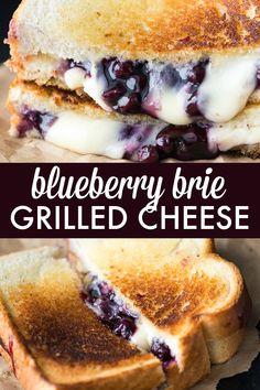 Brie Grilled Cheese Sandwich Blueberry Brie Grilled Cheese Sandwich - Yes, lunch can actually be a dessert! Enjoy the decadence.Blueberry Brie Grilled Cheese Sandwich - Yes, lunch can actually be a dessert! Enjoy the decadence. Brie Sandwich, Chicken Sandwich, Beste Burger, Cake Recipes, Dessert Recipes, Grilled Cheese Recipes, Grilled Desserts, Grilled Cheeses, Grilled Cheese Sandwiches