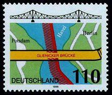 Glienicker Brücke  Briefmarke von 1998
