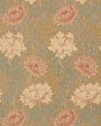 Chrysanthemum Pink/Yellow/Green från William Morris & Co