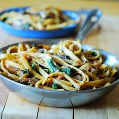 Creamy mushroom pasta with cheese by juliasalbum