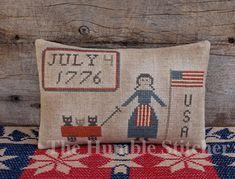 Happy BIrthday USA...Primitive Cross Stitch Design By The Humble Stitcher