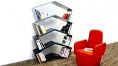 Bookends No More With This Angled Shelf