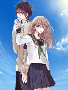 Watashi no Ookami-kun Manga - Oku Watashi no Ookami-kun Manga Couple, Anime Couples Manga, Cute Anime Couples, Anime Guys, Manga Anime, Manga Oku, Cute Couple Art, Romantic Manga, Film Serie