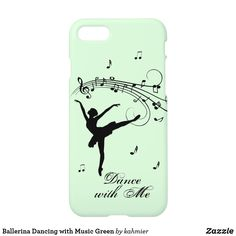 Ballerina Dancing with Music Green iPhone Case