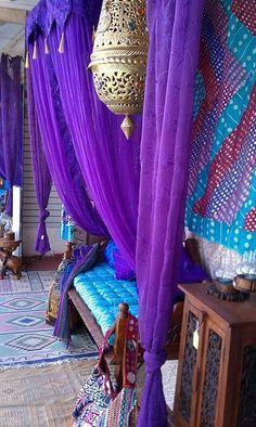 Moroccan decor - in bright blue and purple