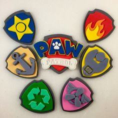 6 Paw Paw Patrol Inspired Shields 1 Paw by KedulceSugarDesigns