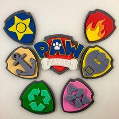 6 Paw Paw Patrol Inspired Shields  1 Paw by KedulceSugarDesigns