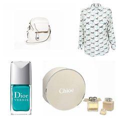 Pebble Crossbody montage - #Equipment Zebra Print Blouse  #Dior Vernis Tropez Nail Lacquer  #Chloé Eau de Parfum #SondraRoberts #SondraRobertsNY #SondraRobertsNewYork