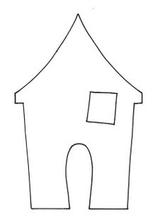 Influential image within printable haunted house template