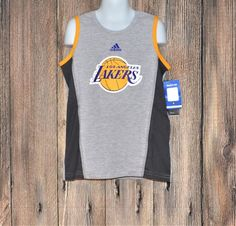 dc1e29362015b Was  25  NWT Boys Size M Medium (5-6) NBA Los Angeles Lakers Tank Top   adidas  LosAngelesLakers