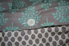 toddler duvet cover and pillowcase pattern. Also a tutorial on how to make two duvets from one twin comforter.