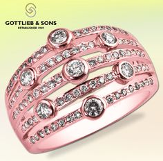 This rose gold #modern styled open diamond ring will be your everyday favorite. Visit your local #GottliebandSons retailer and ask for style number 27202B. http://www.gottlieb-sons.com/product/detail/27202B