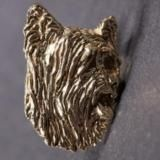Skye Terrier gold-plated HAT PIN head