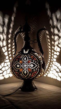 100% HANDMADE Gourd lamp Ottoman Turkish by GOURDARTISTANBUL