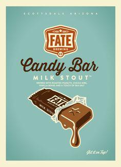 Fate Brewing Candy Bar Milk Stout