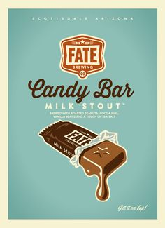 Fate Brewing Candy Bar Milk Stout