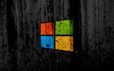 Download wallpapers Windows 8, 4k, creative, grunge, black backgroud, logo, Windows 8 logo, Microsoft