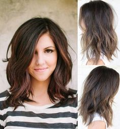 Cute Hair styles. Semi-short hair with long bangs.
