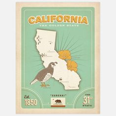 State Of California 18x24 now featured on Fab.