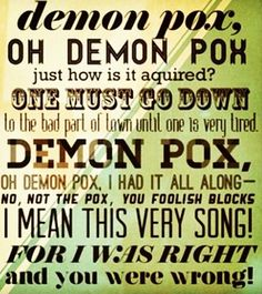 Demon pox! I totally burst into laughter when I read this scene in the book