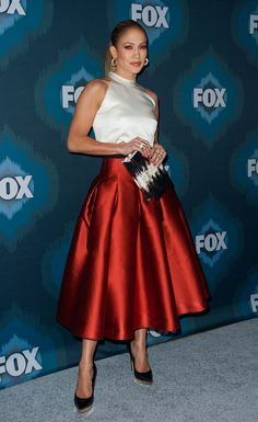 Leave it to Jennifer Lopez to steal the spotlight at the Fox All-Star bash Saturday night. She turned heads in this gorgeous skirt and owned the red carpet as she always does.