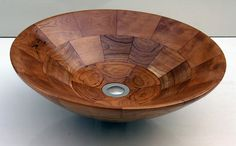 Round Cherry wooden sink by BubingaWoodDesign on Etsy, $599.00