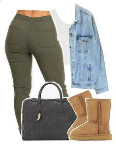 Falsetto by kiaratee ❤ liked on Polyvore featuring Topshop, Levis, Balmain and UGG Australia