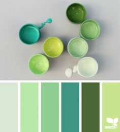 Color Collect green, turquoise color palette, green color combination, calm, bedroom color ideas, grey, lime green, light green