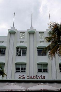 The Carlyle Hotel, 1250 Ocean Drive, South Beach.    Architects: Richard Kiehnel & John Elliot  Built: 1939