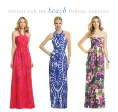 Beach formal weddings are all the rage this summer! Prepare by stocking up on long, flowy maxidresses that have a glamorous feel. I would pair each of these looks with metallic wedge sandals and simple jewelry. Beach Wedding Outfit Guest, Summer Wedding Outfits, Maxi Dress Wedding, Long Summer Dresses, Formal Dresses For Women, Maxi Dresses, Floral Dresses, Bridesmaid Dress, Fashion Dresses